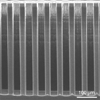silicon pillar formation using the Bosch Process