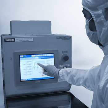 Touchscreen operation of RIE system